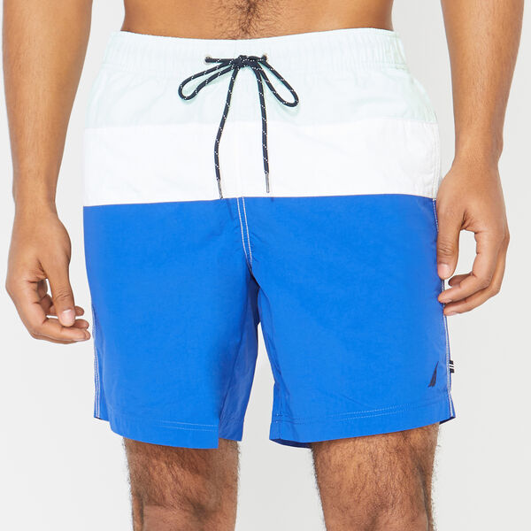"8"" BIG & TALL COLORBLOCK  SWIM TRUNKS - Aquabreeze"