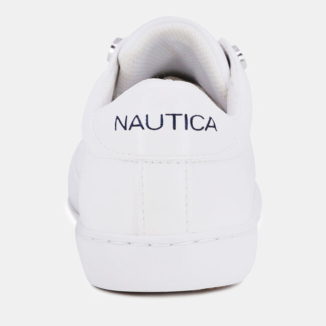 EMBROIDERED LOGO PATCH SNEAKER,Antique White Wash,large