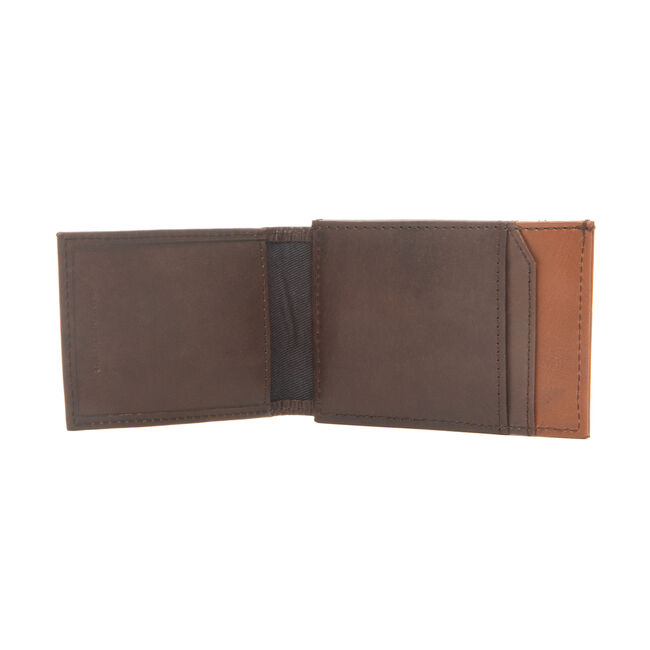 BRENDAN MAGNETIC SLIMFOLD WALLET IN BROWN,Military Tan,large