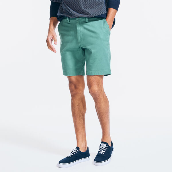 "8.5"" CLASSIC FIT DECK SHORTS WITH STRETCH - Deep Fern"
