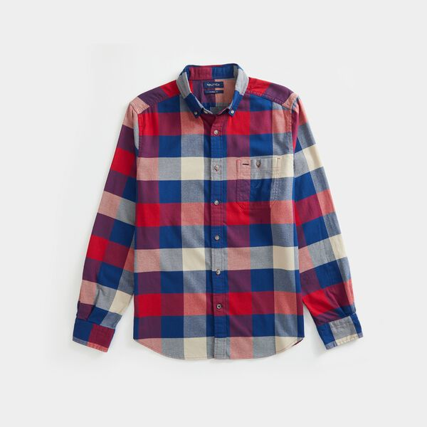 CLASSIC FIT PLAID FLANNEL SHIRT - Nautica Red
