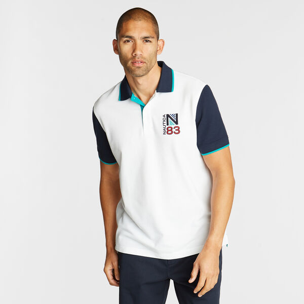 CLASSIC FIT CONTRAST COLLAR POLO - Bright White