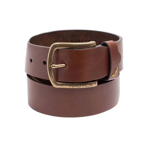 HARNESS BUCKLE LEATHER BELT - Military Tan