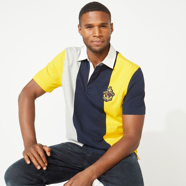 NAUTICA JEANS CO. VERTICAL STRIPE POLO - Navy