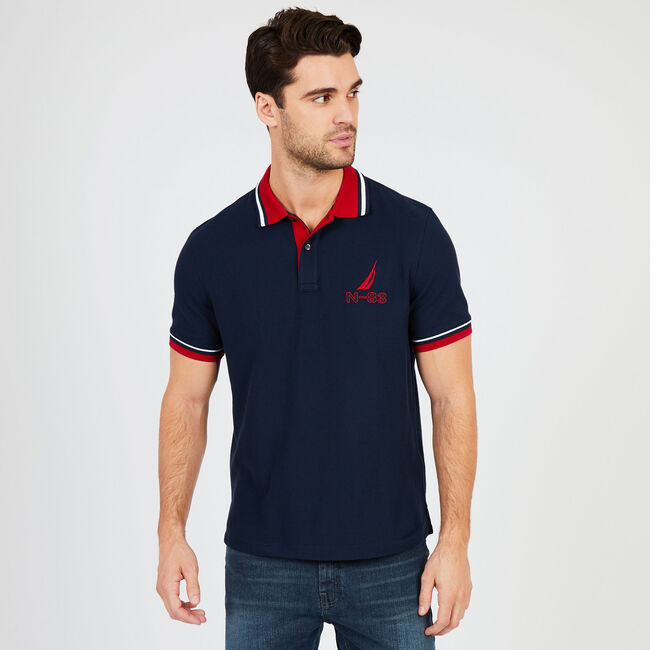 Classic Fit Performance Polo,Navy,large