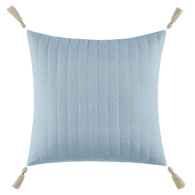 Locklear Aqua Quilted Square Pillow in Open Turquoise,Castaway Aqua,large
