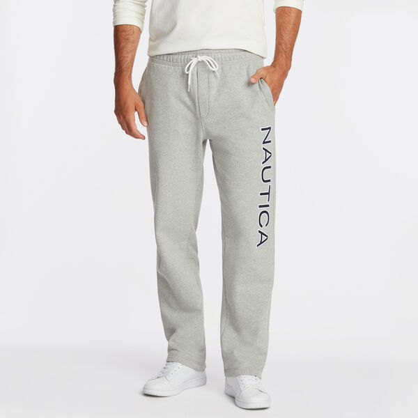 SIGNATURE LOGO FLEECE SWEATPANTS - Grey Heather