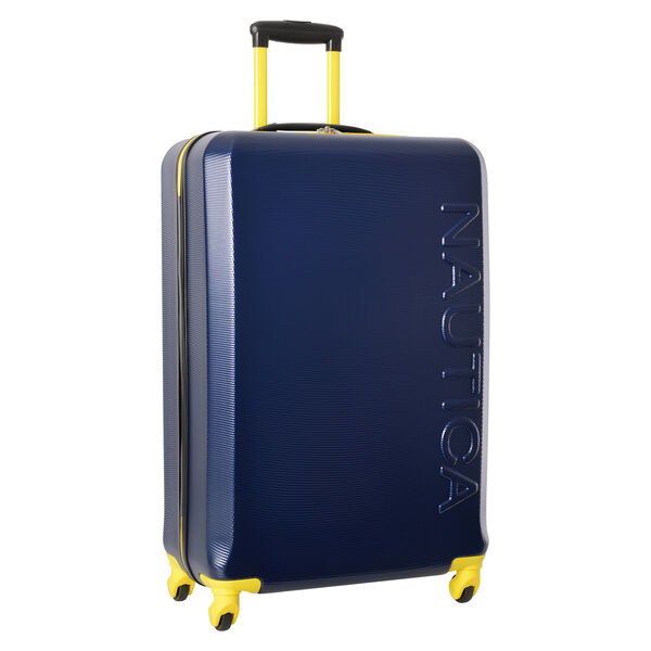 "Marina 28"" Hardside Spinner Luggage in Navy/Yellow - Navy"