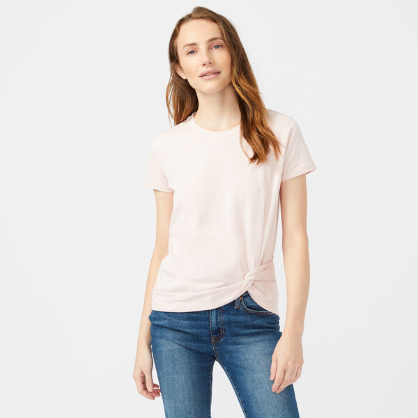 SIDE KNOT JERSEY TOP - New Pink