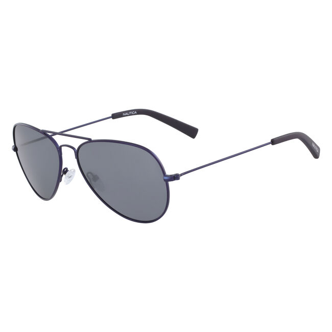 Aviator Sunglasses with Matte Frame,Angel Blue,large
