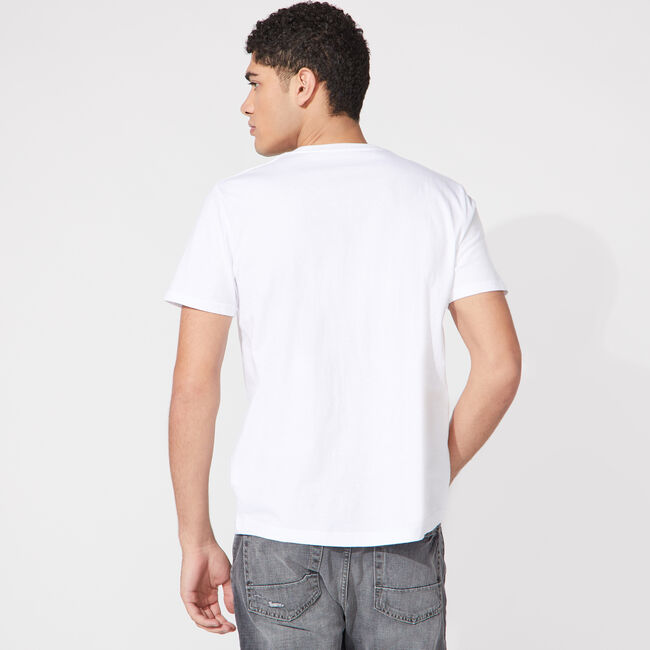 NAUTICA JEANS CO. LOGO GRAPHIC T-SHIRT,Bright White,large