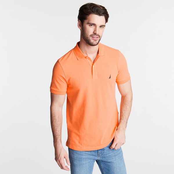 SLIM FIT MESH POLO - Suncoast Orange