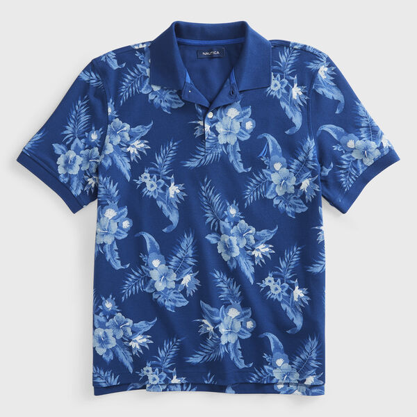 CLASSIC FIT FLORAL PRINT POLO - Estate Blue