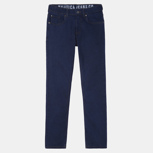 BOYS' STRAIGHT-LEG JEANS (8-20) - Dock Blue