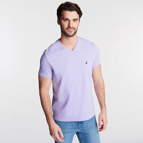 V-Neck Short Sleeve Slim Fit T-Shirt - Camilla Rose