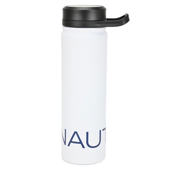 LOGO STAINLESS STEEL ROTATING HANDLE WATER BOTTLE - Antique White Wash