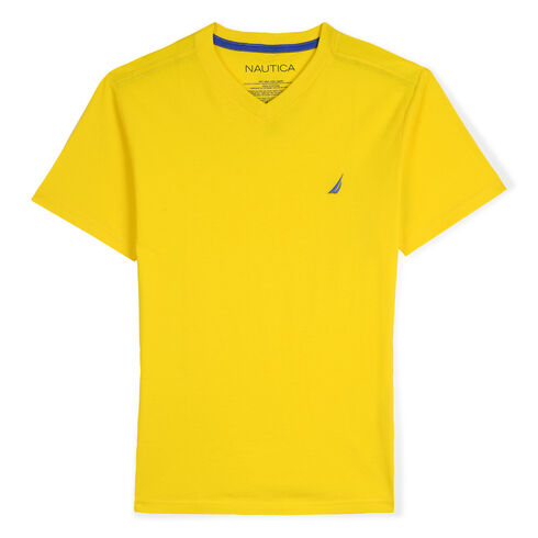Boys' Strait V-Neck T-Shirt (8-20) - Marigold