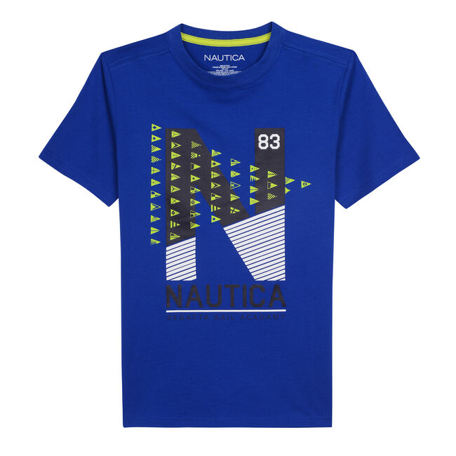 TODDLER BOYS' EASTON JERSEY T-SHIRT IN N GRAPHIC (2T-4T),Imperial Blue,large