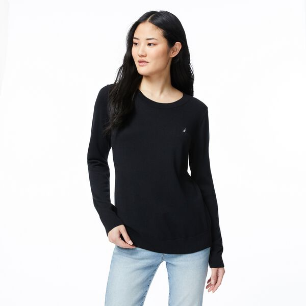 CLASSIC FIT CREW NECK SWEATER - True Black
