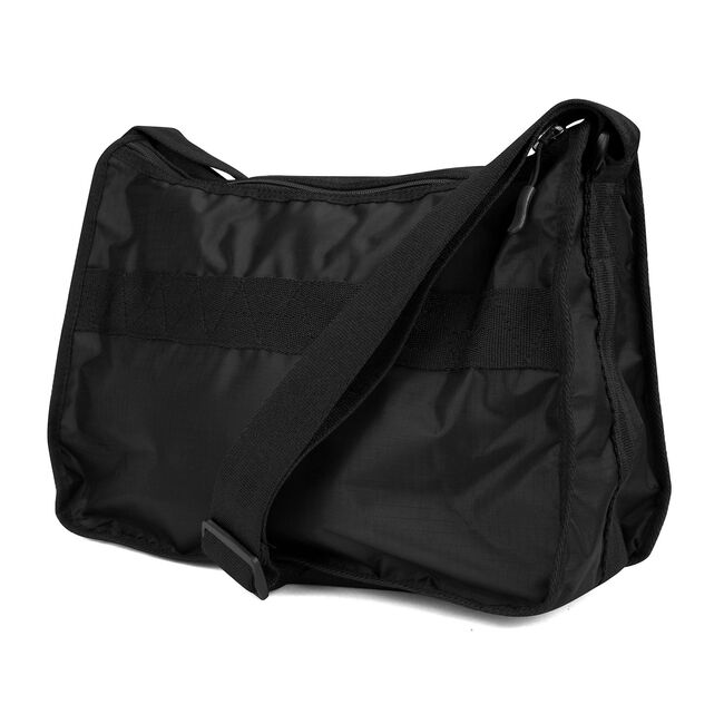 CAPTAIN'S QUARTERS NYLON HOBO BAG,True Black,large