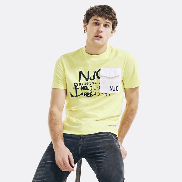 NAUTICA JEANS CO. LOGO GRAPHIC POCKET T-SHIRT - Sun Haze