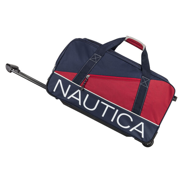 "Newton Creek 22"" Wheeled Duffel Bag in Navy/Red - Pure Dark Pacific Wash"