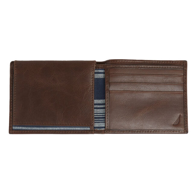 Helm Passcase Wallet,Brown Stone,large
