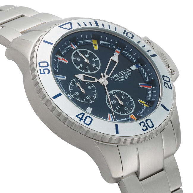 Bayside Multifunction Watch - Navy,Multi,large