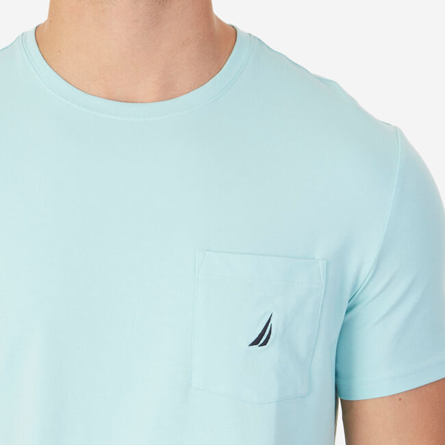 Short Sleeve Tee with Chest Pocket,Harbor Mist,large