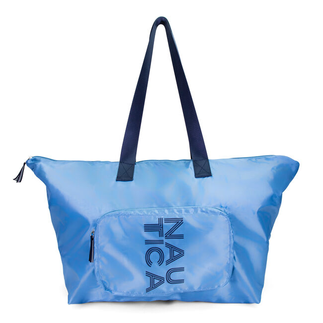 NEW TACK PACKABLE TOTE BAG,Ice Blue,large