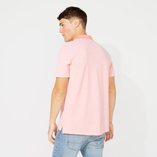 CLASSIC FIT SOLID OXFORD POLO,Pale Coral,large