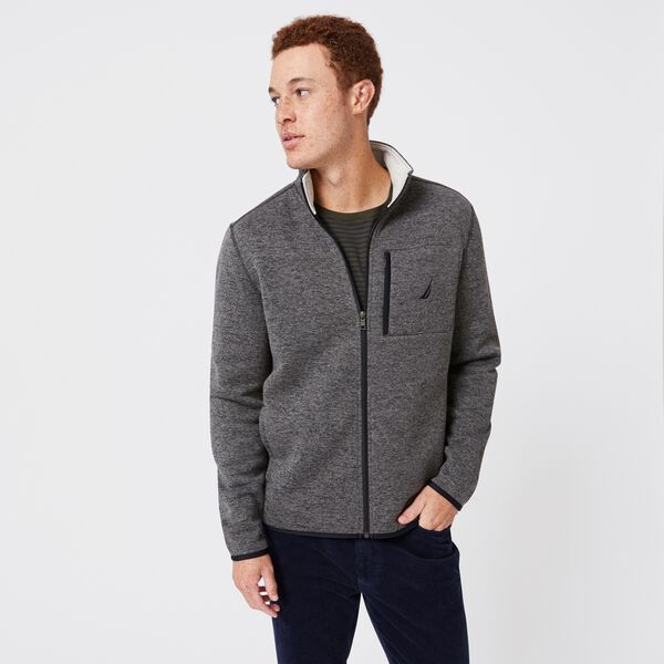 CLASSIC FIT FULL-ZIP FLEECE - Charcoal Heather