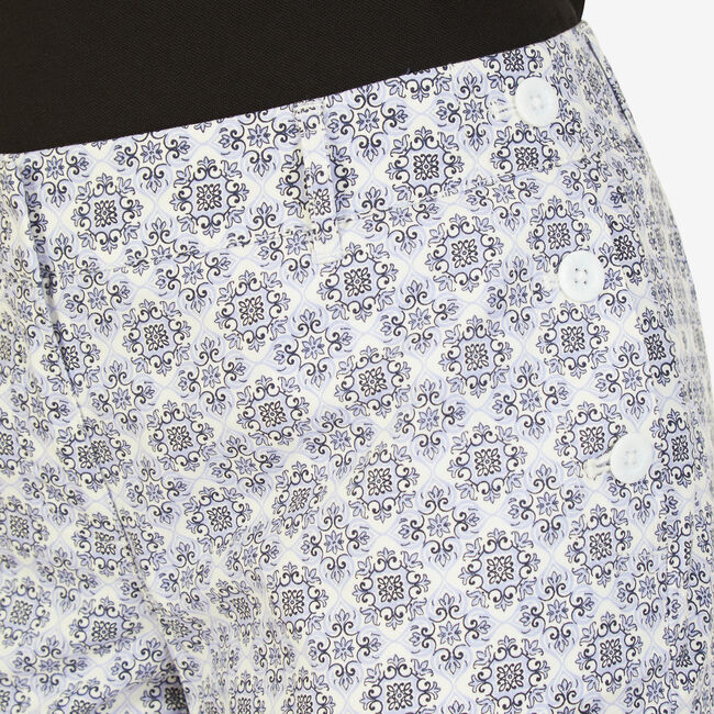 "Floral Motif Sailor Shorts - 4"" Inseam,Sport Navy,large"