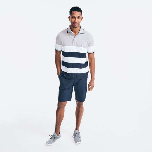 NAVTECH CLASSIC FIT STRIPED POLO - Grey Heather