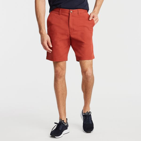"8.5"" CLASSIC FIT TWILL DECK SHORT - Tugboat Red"