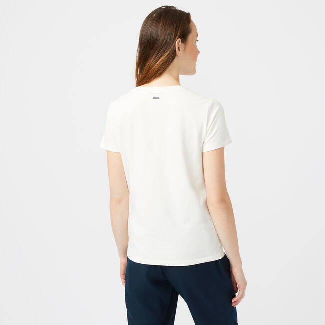 SIDE KNOT JERSEY TOP,Marshmallow,large