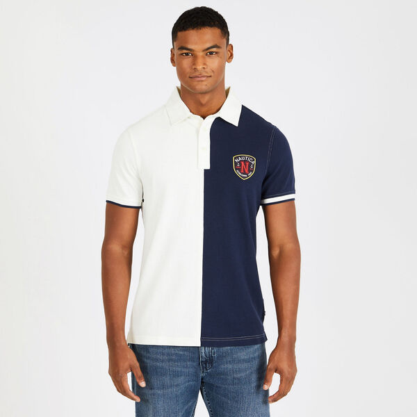 Slim Fit Colorblock Cotton Polo - Marshmallow