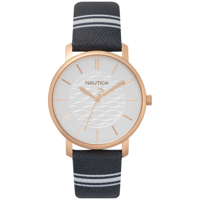Coral Gables 3-Hand Watch - Navy/White ,Multi,large