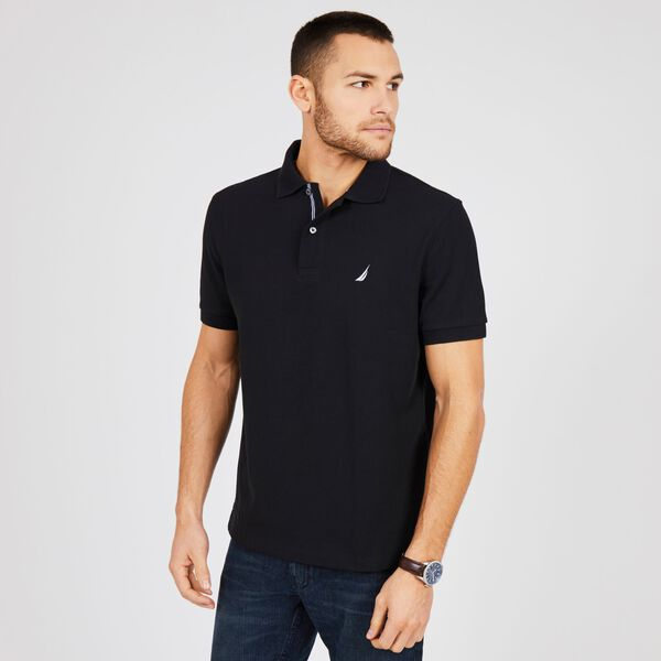 BIG & TALL STRETCH MESH POLO - True Black