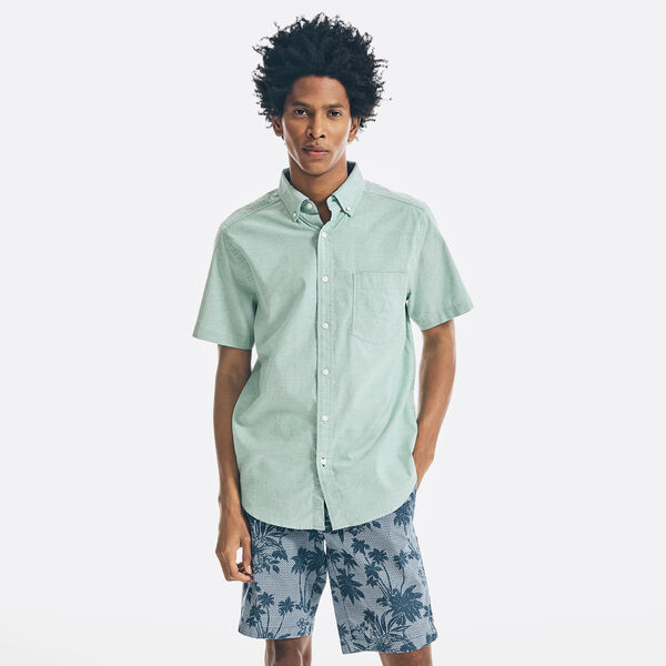 SHORT SLEEVE OXFORD SHIRT - Bright Willow