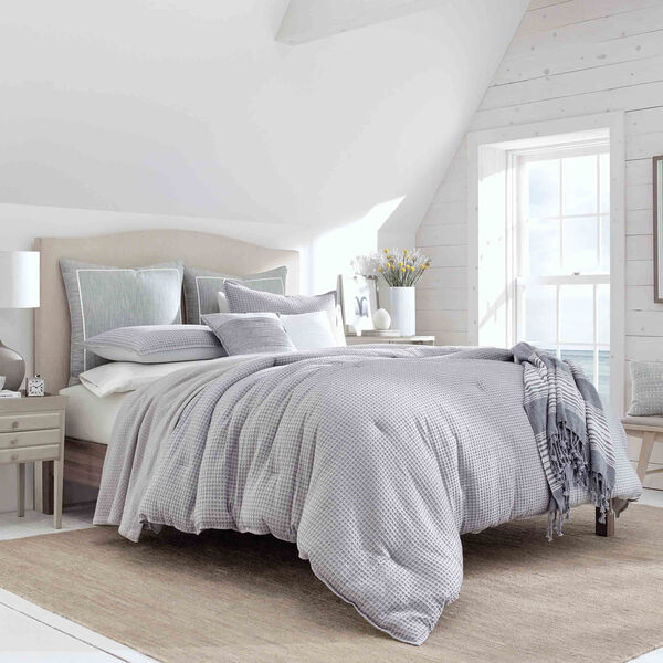Ballastone Comforter Set in Grey - Grey Heather
