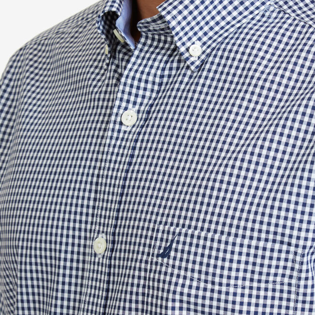 Gingham Classic Fit Button-Down Shirt,J Navy,large