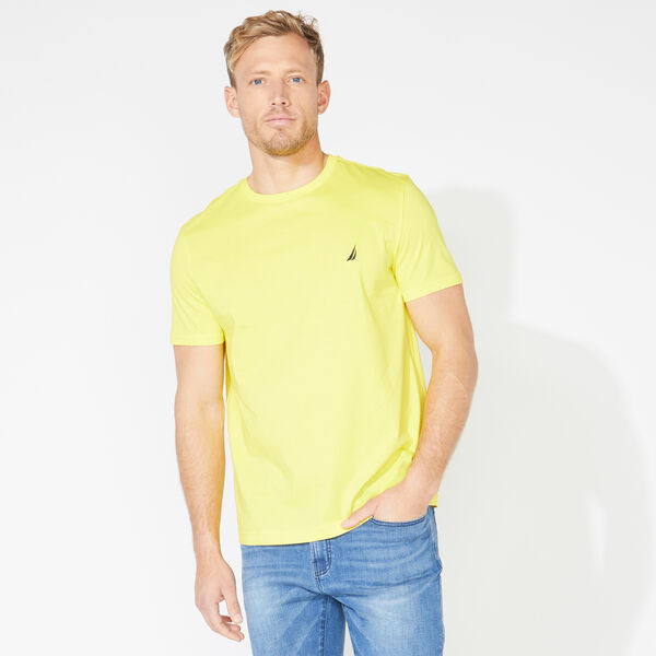 SOLID SHORT SLEEVE CREWNECK T-SHIRT - Blazing Yellow