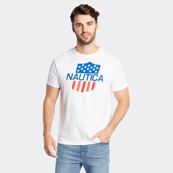 JERSEY T-SHIRT IN LOGO GRAPHIC - Bright White