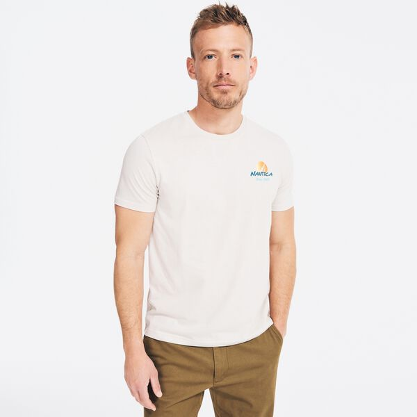SUSTAINABLY CRAFTED SURFING GRAPHIC T-SHIRT - Nautica Stone
