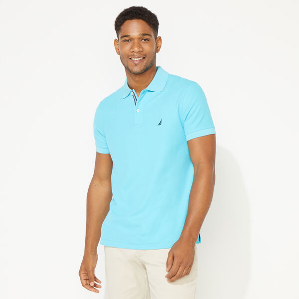 SLIM FIT DECK POLO - Aqua Sky