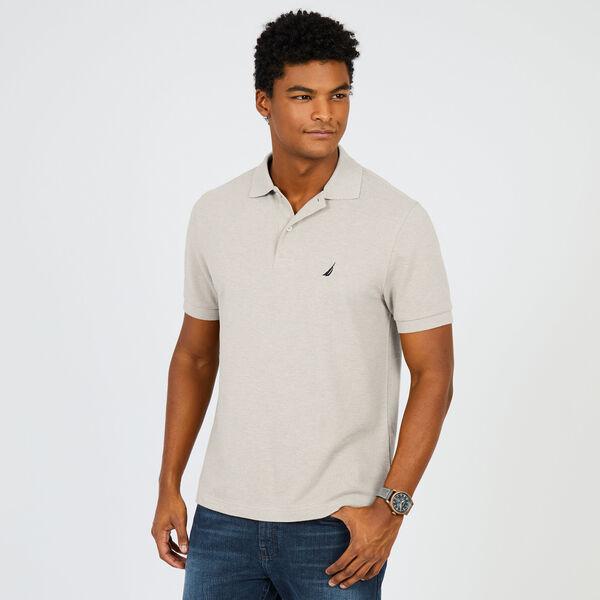 Short Sleeve Pique Classic Fit Deck Polo - Beechwood