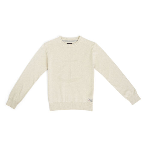 Little Boys' Bower Anchor Crewneck Sweater (4-7) - Sail White