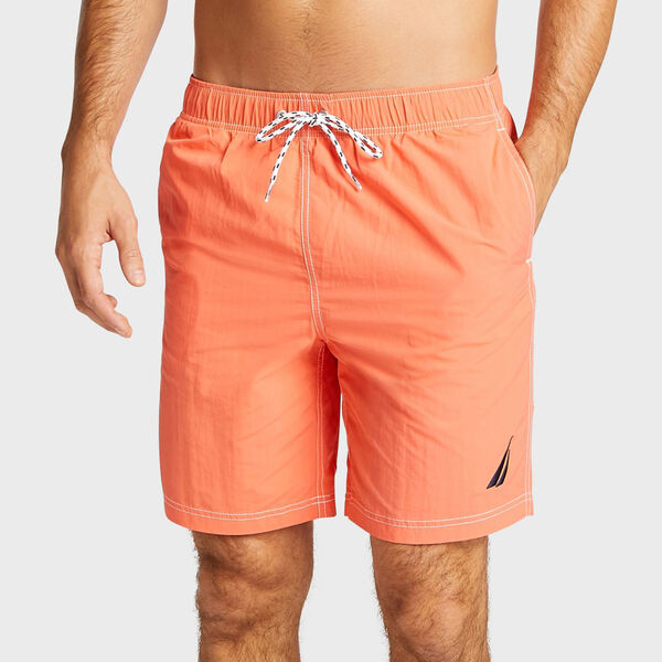 Big & Tall Full-Elastic Swim Trunks - Livng Coral