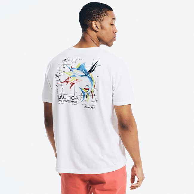 SUSTAINABLY CRAFTED GRAPHIC T-SHIRT,Bright White,large